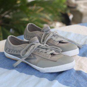 Feiyue Fe Lo Men's Classic Gray Canvas Sneakers